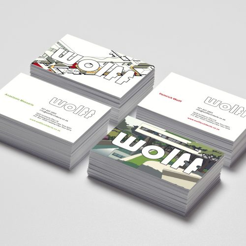 wolff architecture logo and business card design