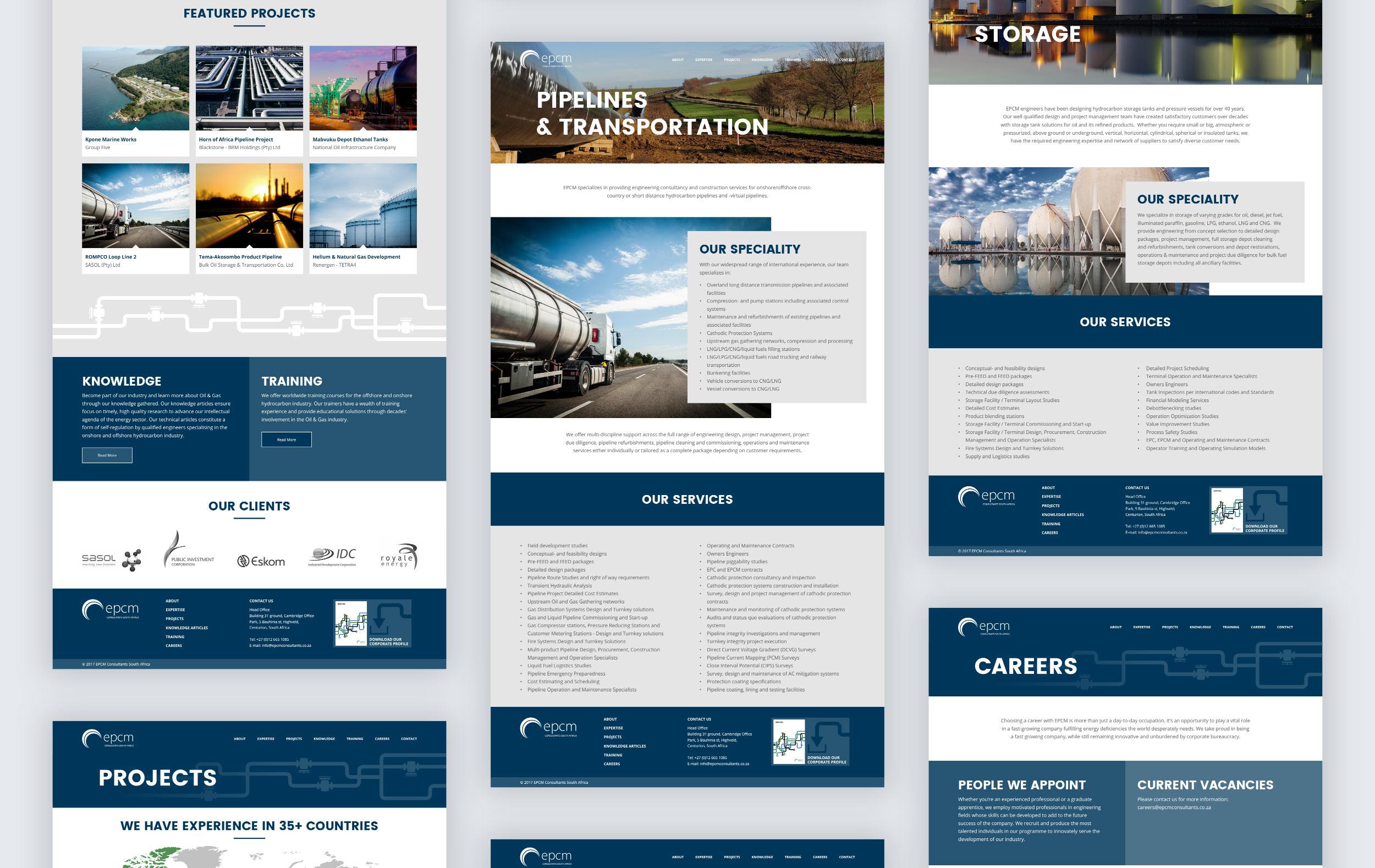 EPCM website redesign
