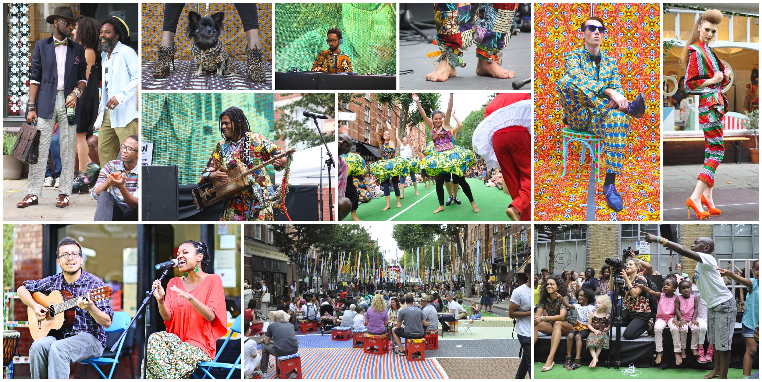 African street style festival banner