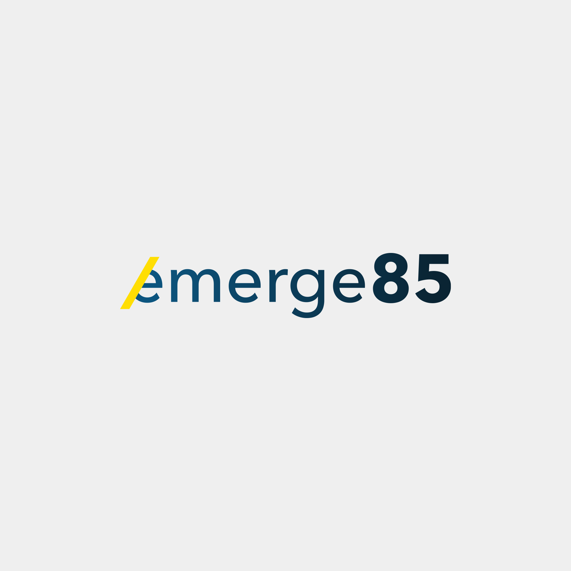 Emerge85 branding logo design