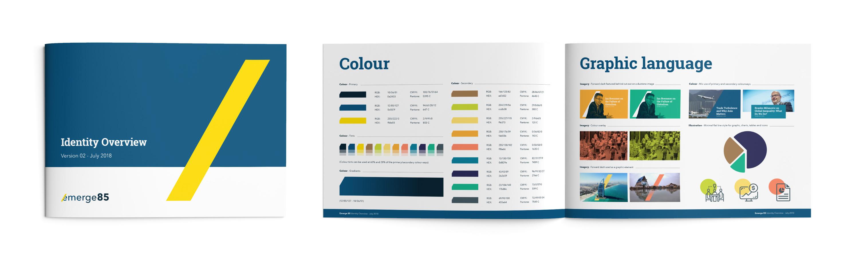 Emerge85 branding guidelines