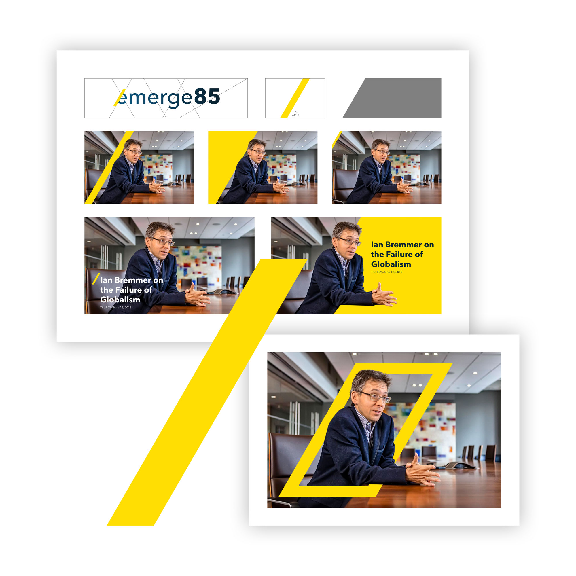 Emerge85 branding