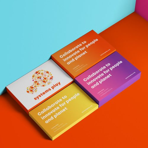 systems play brand identity business card