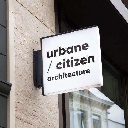 urbane citizen architecture branding logo design