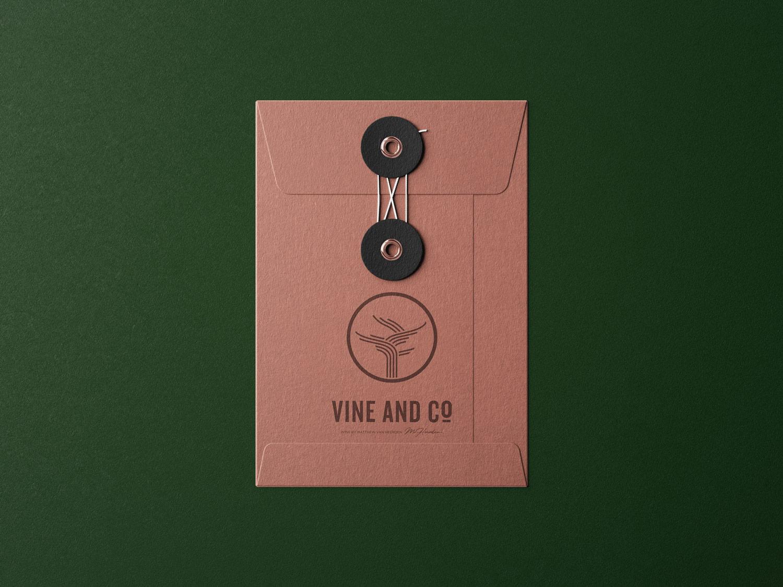 Vine and co logo on envelope