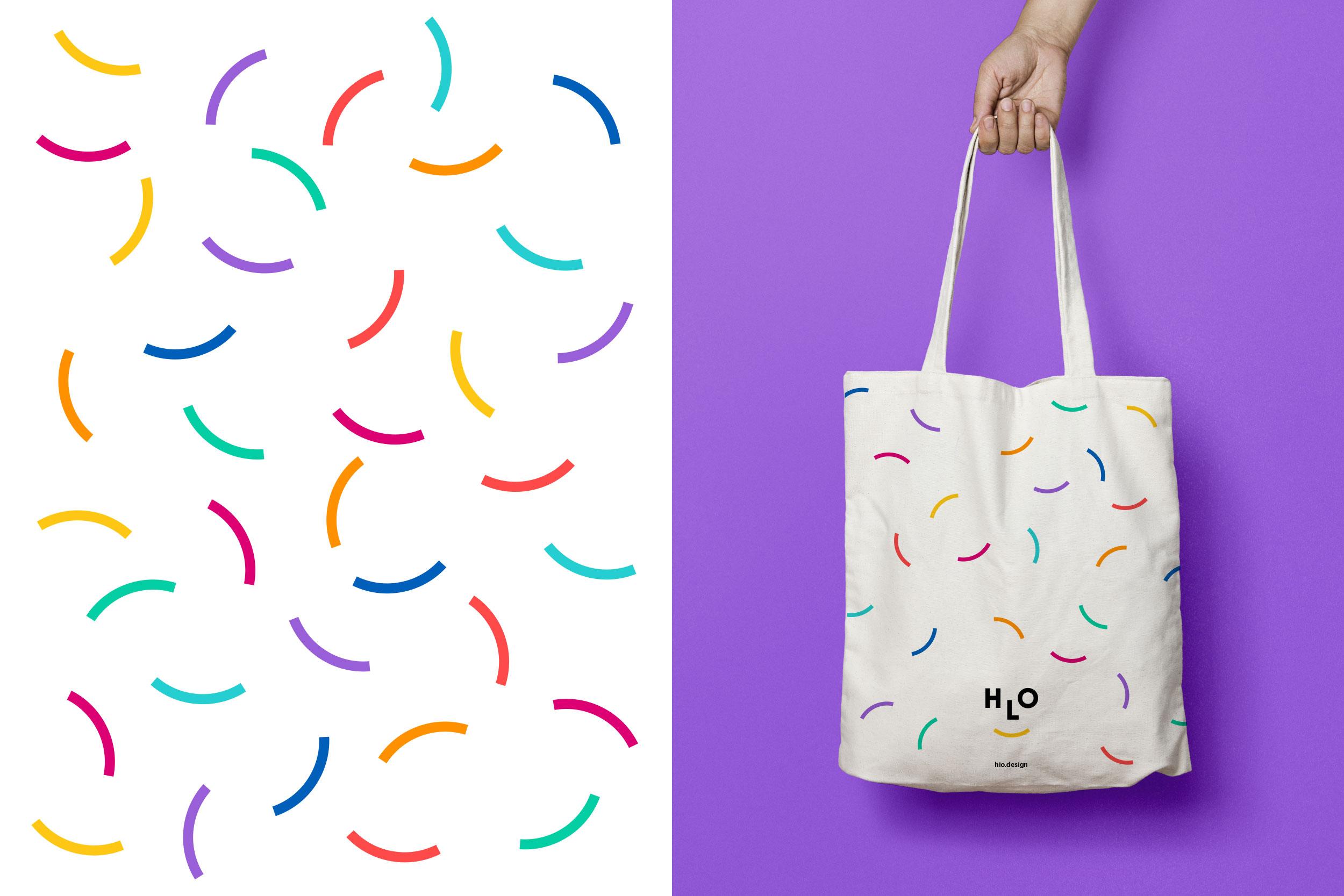Rebranding a branding agency tote bag pattern