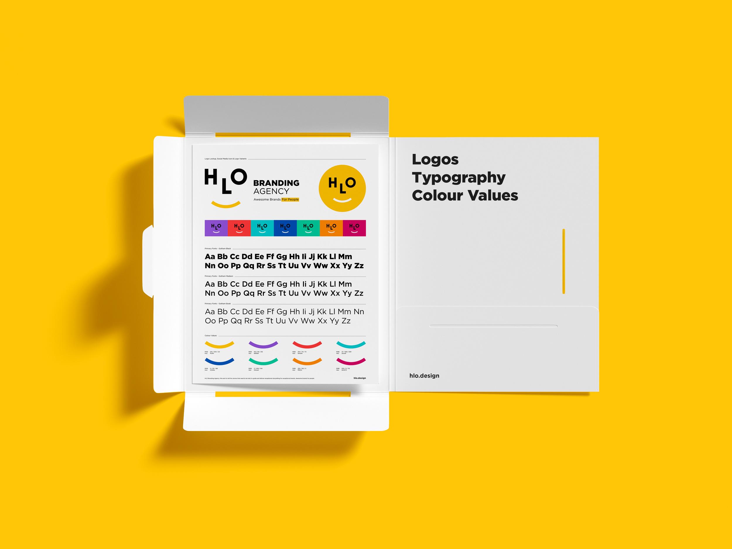 visual identity overview Rebranding a branding agency