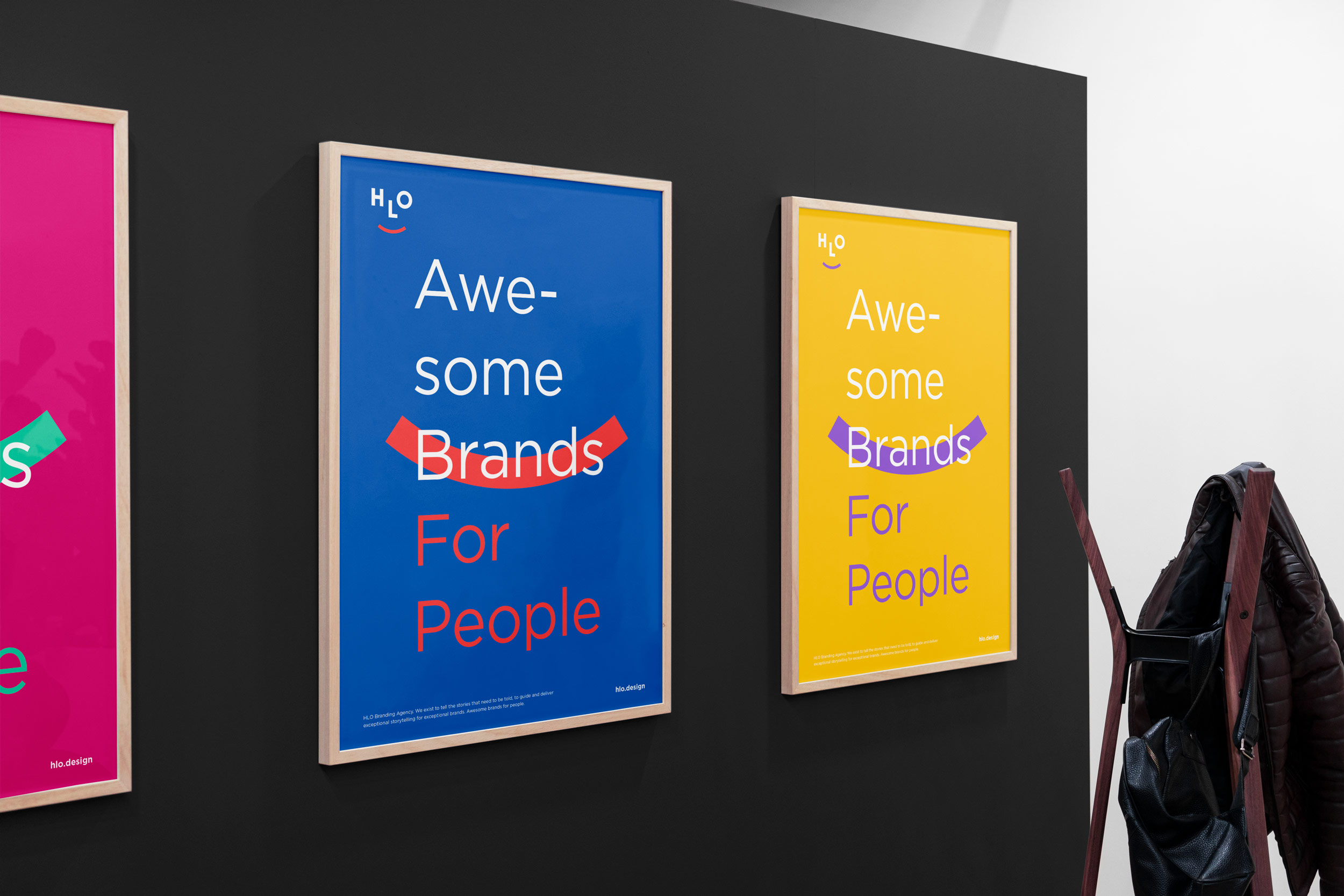 Visual identity HLO branding agency poster design