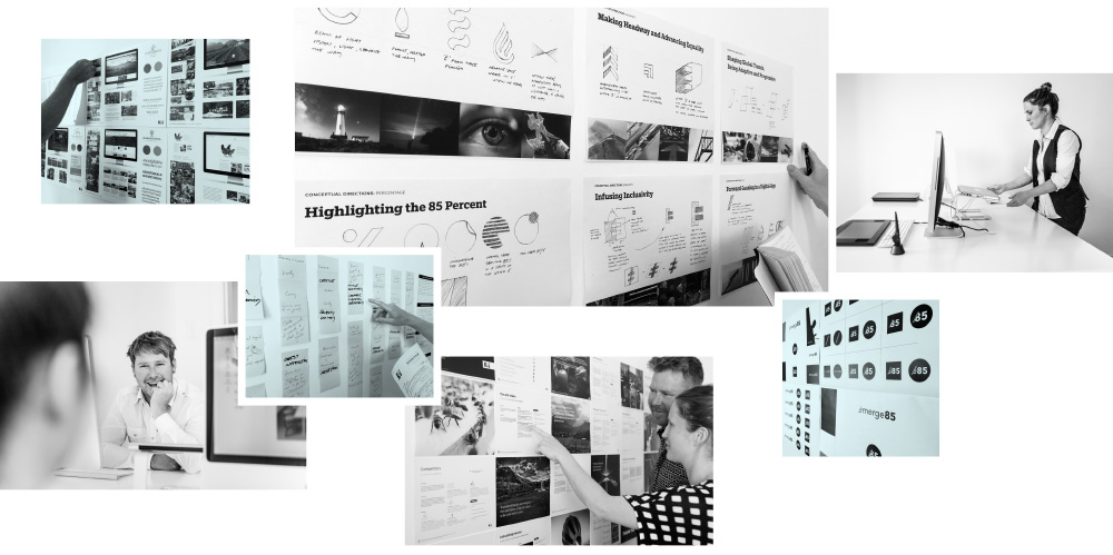 branding process collage