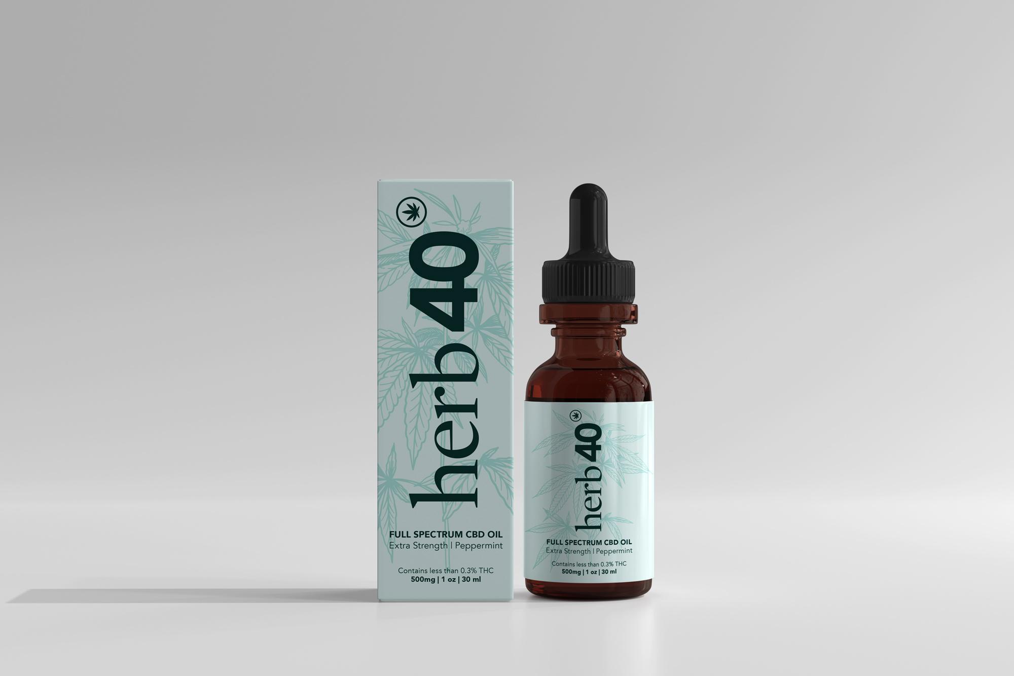 packaging design hemp oil bottle