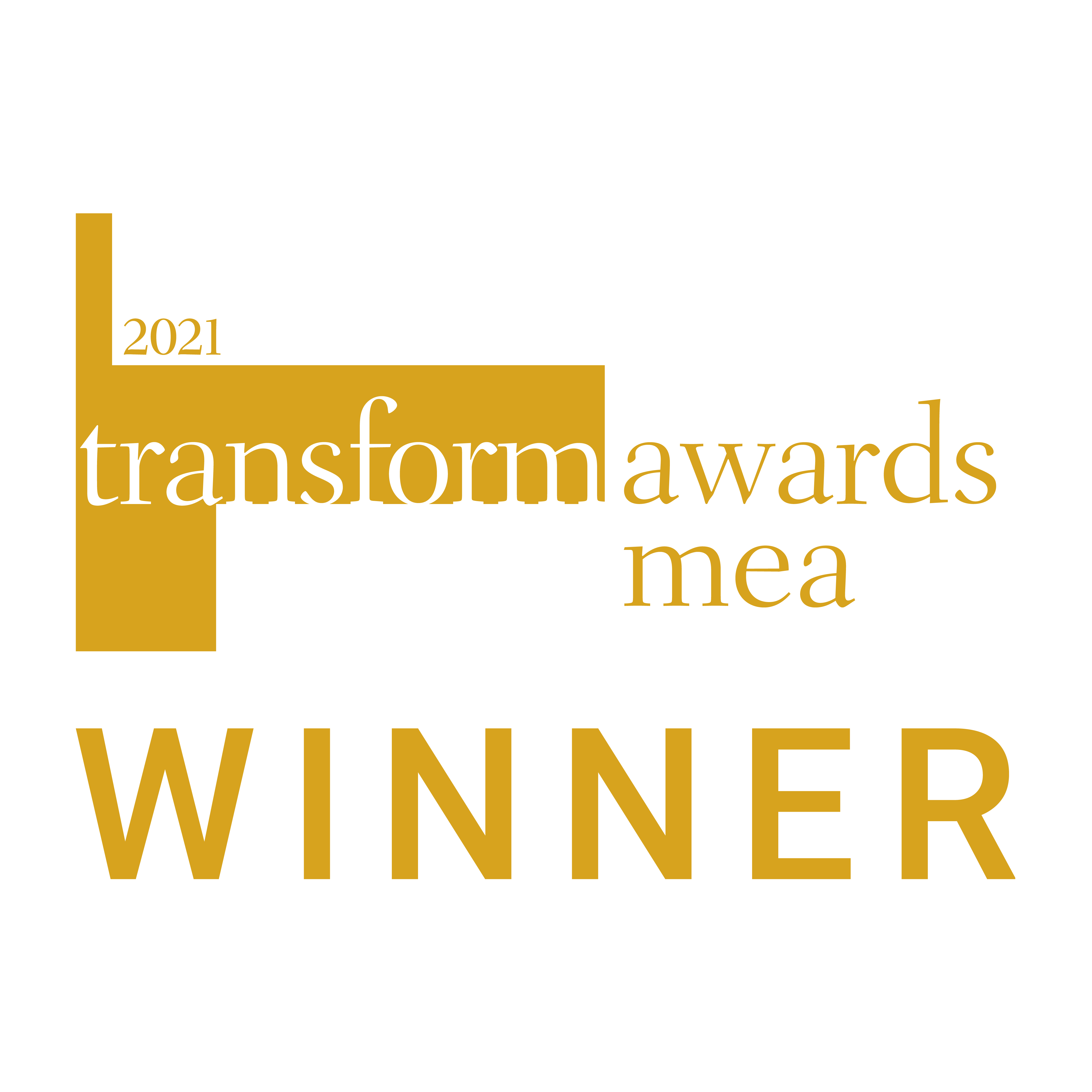 Transform awards mea winner